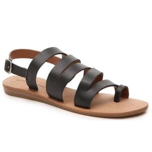 Lucky Brand Black Leather Gladiator Sandals